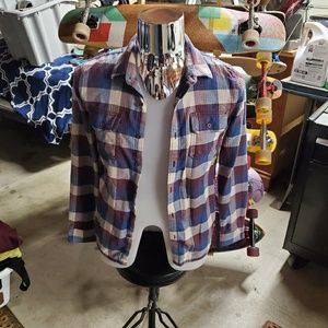 Van's men's button up flannel